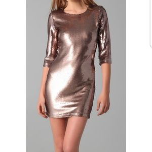 BB Dakota Dresses - BB Dakota, size M Champagne sequence dress